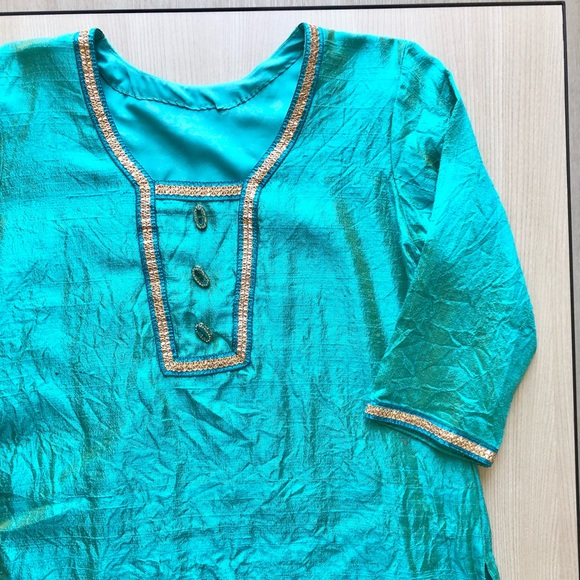 Vintage Turquoise Handmade Tunic